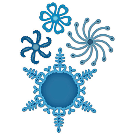 Spellbinders - Shapeabilities Collection - Christmas - Die Cutting and Embossing Templates - 2011 Snowflake Pendant