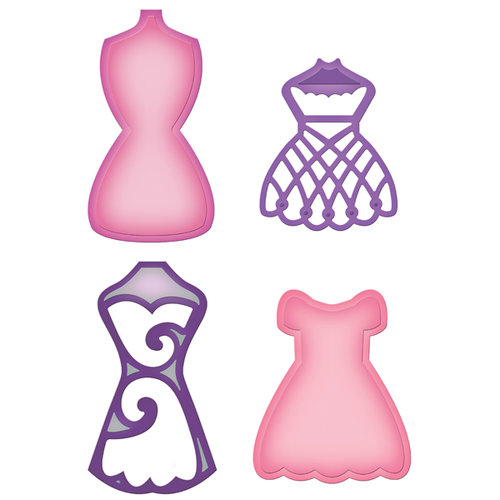 Spellbinders - Shapeabilities Collection - Die Cutting and Embossing Templates - Decorative Dress Form