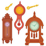 Spellbinders - Shapeabilities Collection - Die Cutting and Embossing Templates - Retro Mod Clocks
