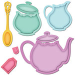 Spellbinders - Shapeabilities Collection - Die Cutting and Embossing Templates - Tea Service