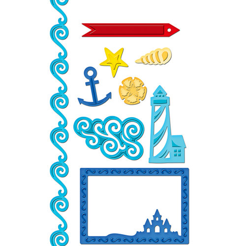 Spellbinders - Shapeabilities Collection - Samantha Walker - Die Cutting and Embossing Templates - Nautical Frames and Accents