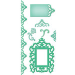 Spellbinders - Shapeabilities Collection - Samantha Walker - Die Cutting and Embossing Templates - Antique Frame and Accents