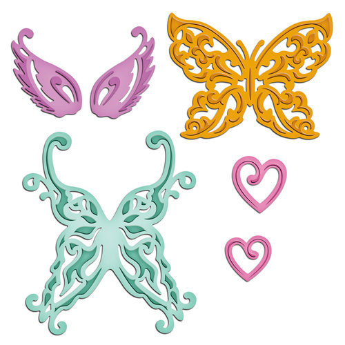 Spellbinders - Shapeabilities Collection - Die Cutting and Embossing Templates - Wings of Hope