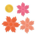 Spellbinders - Shapeabilities Collection - Die Cutting and Embossing Templates - Aster Flower Topper