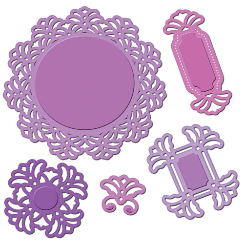 Spellbinders - Shapeabilities Collection - Sue Wilson Designs - Die Cutting and Embossing Templates - Vintage Lace Motifs
