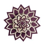 Spellbinders - Cut Fold and Tuck Die Cutting Template - Flower Burst