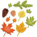 Spellbinders - Shapeabilities Collection - Die Cutting and Embossing Templates - Fall Foliage
