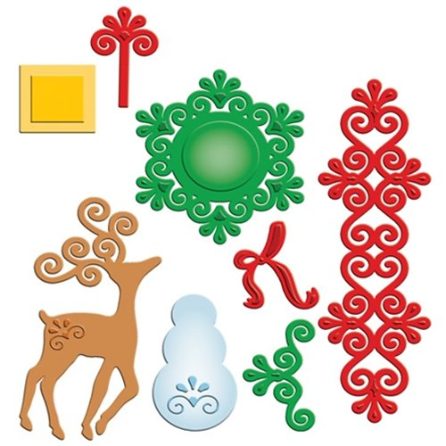 Spellbinders - Shapeabilities Collection - Christmas - Die Cutting and Embossing Templates - Frosty Forms