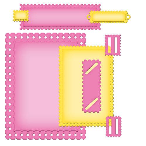 Spellbinders - Nestabilities Collection - Die Cutting and Embossing Templates - Card Creator - A2 Fancy Postage Edge