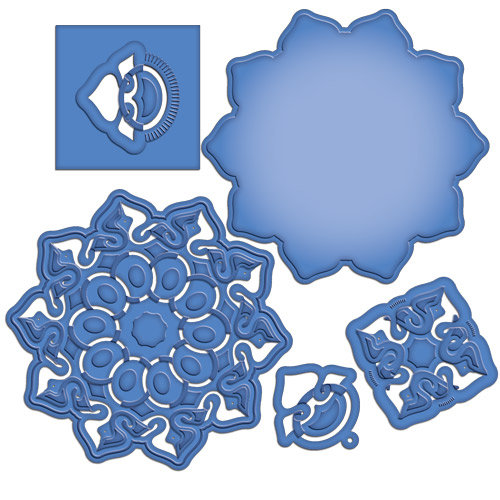 Spellbinders - Cut Fold and Tuck Die Cutting Template - Triumphant Blossom