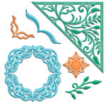 Spellbinders - Shapeabilities Collection - Samantha Walker - Die Cutting and Embossing Templates - Botanical Swirls And Accents