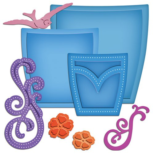 Spellbinders - Shapeabilities Collection - Die Cutting and Embossing Templates - Pockets And Swirls