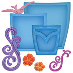 Spellbinders - Shapeabilities Collection - Donna Salazar - Die Cutting and Embossing Templates - Pockets And Swirls