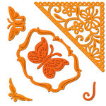Spellbinders - Shapeabilities Collection - Die Cutting and Embossing Template - Butterfly Corners