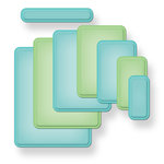Spellbinders - Nestabilities Collection - Die Cutting and Embossing Templates - A2 Curved Matting Basics A