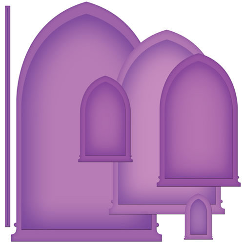 Spellbinders - Nestabilities Collection - Die Cutting and Embossing Templates - Arched Windows One