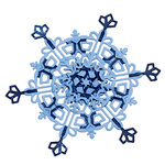 Spellbinders - Cut Fold and Tuck - Die Cutting Template - Dimensional Snowflakes