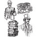 Stamper's Anonymous - Tim Holtz - Cling Mounted Rubber Stamp Set - Time Travelers