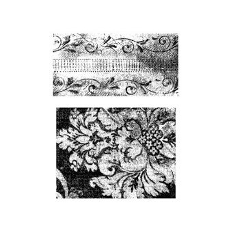 Stampers Anonymous - Tim Holtz - Cling Mounted Rubber Stamp Set - Weathered Textiles