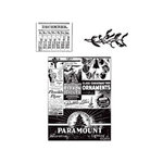 Stampers Anonymous - Tim Holtz - Christmas - Cling Mounted Rubber Stamp Set - Holidays Past