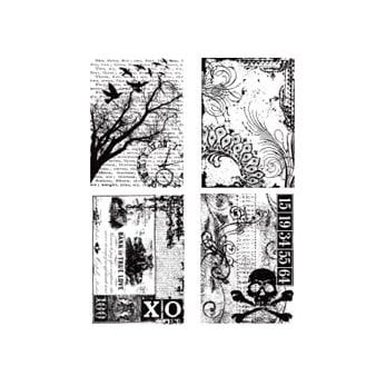 Stampers Anonymous - Tim Holtz - Cling Mounted Rubber Stamp Set - Ornate Collages