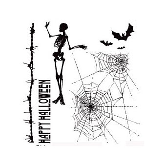 Stampers Anonymous - Tim Holtz - Halloween - Cling Mounted Rubber Stamp Set - Trick-or-Treat