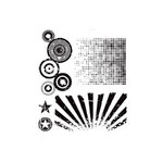 Stampers Anonymous - Tim Holtz - Cling Mounted Rubber Stamp Set - Psychedelic Grunge