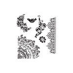 Stampers Anonymous - Tim Holtz - Cling Mounted Rubber Stamp Set - Floral Tattoo