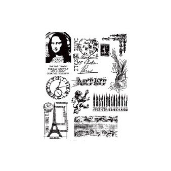 Stampers Anonymous - Cling Mounted Rubber Stamp Set - Mini Classics