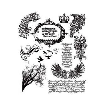 Stampers Anonymous - Tim Holtz - Cling Mounted Rubber Stamp Set - Mini Ornate