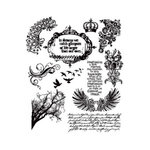 Stampers Anonymous - Tim Holtz - Cling Mounted Rubber Stamp Set - Mini Orantes
