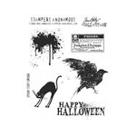 Stampers Anonymous - Tim Holtz - Halloween - Cling Mounted Rubber Stamp Set - Spooky Stuff