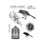 Stampers Anonymous - Tim Holtz - Cling Mounted Rubber Stamp Set - Artful Flight