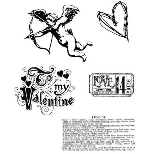 Stampers Anonymous - Tim Holtz - Cling Mounted Rubber Stamp Set - Love Struck