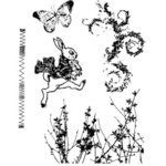 Stampers Anonymous - Tim Holtz - Cling Mounted Rubber Stamp Set - Spring Sprung