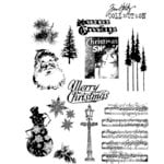 Stampers Anonymous - Tim Holtz - Cling Mounted Rubber Stamp Set - Mini Holidays Number Two