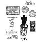Stampers Anonymous - Tim Holtz - Cling Mounted Rubber Stamp Set - Haberdashery