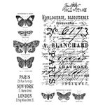 Stampers Anonymous - Tim Holtz - Cling Mounted Rubber Stamp Set - Papillion