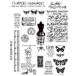 Stampers Anonymous - Tim Holtz - Cling Mounted Rubber Stamp Set - Attic Treasures