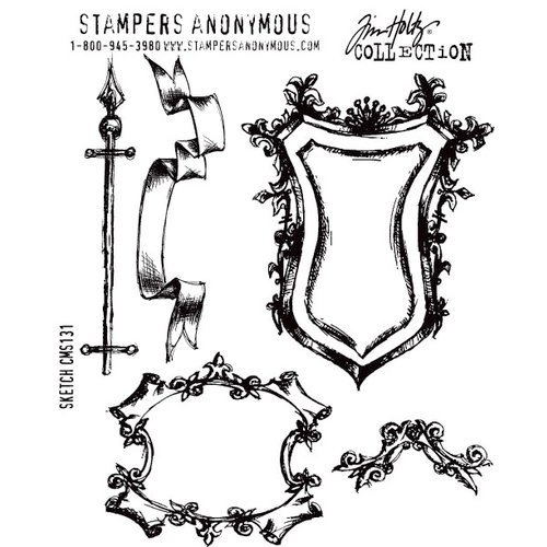 Stampers Anonymous - Tim Holtz - Cling Mounted Rubber Stamp Set - Sketch