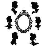 Stampers Anonymous - Tim Holtz - Cling Mounted Rubber Stamp Set - Artful Silhouettes