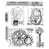 Stamper's Anonymous - Tim Holtz - Cling Mounted Rubber Stamp Set - Industrial Blueprint