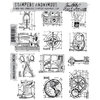 Stamper's Anonymous - Tim Holtz - Cling Mounted Rubber Stamp Set - Mini Blueprints 3
