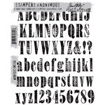 Stamper's Anonymous - Tim Holtz - Cling Mounted Rubber Stamp Set - Worn Text