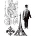 Stamper's Anonymous - Tim Holtz - Cling Mounted Rubber Stamp Set - Paris Memoir