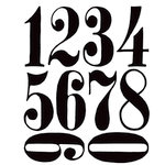 Stamper's Anonymous - Tim Holtz - Cling Mounted Rubber Stamp Set - Numeric