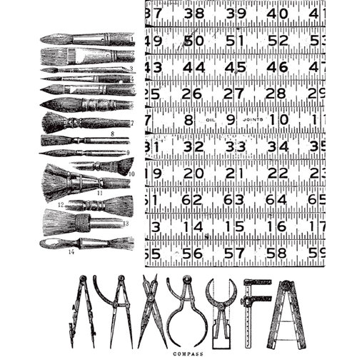 Stamper's Anonymous - Tim Holtz - Cling Mounted Rubber Stamp Set - Artful Tools