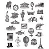 Stamper's Anonymous - Tim Holtz - Cling Mounted Rubber Stamp Set - Tiny Things