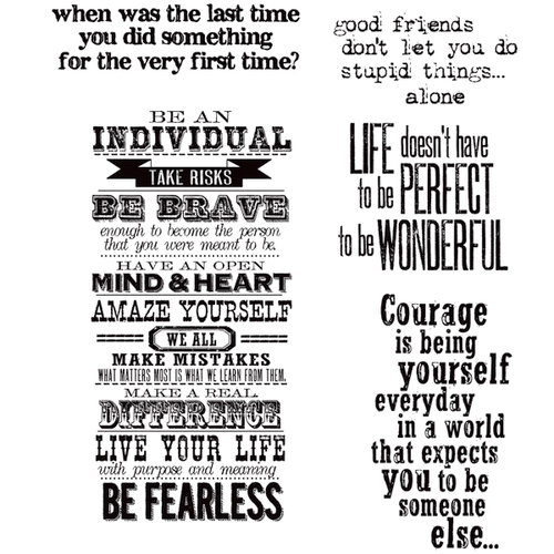 Stamper's Anonymous - Tim Holtz - Cling Mounted Rubber Stamp Set - Way With Words
