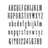 Stamper's Anonymous - Tim Holtz - Cling Mounted Rubber Stamp Set - Tall Text